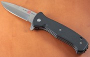 AMK2202 SERE 2020 - Assisted Opening - Flipper - Satin D2 Steel - Black G-10 Handle
