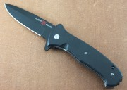 AMK2206 SERE 2020 - Assisted Opening - Flipper - Black D2 Steel - Black G-10 Handle