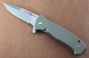 AMK2214 SERE 2020 - Assisted Opening - Flipper - Satin 8Cr13MoV Stainless - Coyote Tan FRN Handles