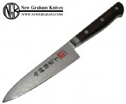 """Al Mar UC4 Ultra-Chef 4"""" Utility Kitchen Knife with Select Cocobolo Handle and VG-10 Cobalt Stainless Core Laminate Damascus Blade"""