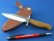 Blackjack Classic Blades 12NM Model 12 HALO Boot Knife with Natural Canvas Micarta Handles and A2 Tool Steel Convex Grind Blade
