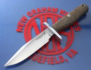 Blackjack Classic Blades 12WB Model 12 HALO Boot Knife with Walnut Burl Handles and A2 Tool Steel Convex Grind Blade