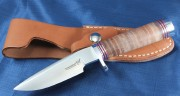 Blackjack Classic Blades 124L Model 124 with Stacked Leather Handle and A2 Tool Steel Convex Grind Blade
