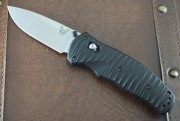 Benchmade 1000001 Valli Assisted - Satin S30V Plain Edge Blade - Black G-10 Handles - Axis Lock