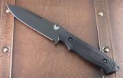 Benchmade 1410BK Nimravus Fixed Blade - Black 154CM Plain Edge Blade - Black 6061-T6 Aluminum Handle