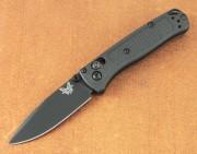 Benchmade 533BK-2 Mini-Bugout - Black S30V Plain Edge Blade - Black Handles