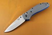 Benchmade 551-1 Griptillian Axis Lock Folder Gray G-10 - 20CV Plain Edge Blade - Dual Thumbstuds - Axis Lock - 551-1