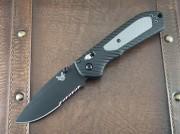 Benchmade 560SBK Freek Folder - S30V Black Partially Serrated Blade - Axis Lock - Black/Gray Handle