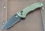 Benchmade 980SBK Turret Black Partially Serrated Blade