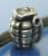 Metal Grenade Bead, Paracord