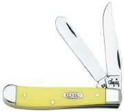 Case XX Mini-Trapper Yellow Synthetic High Carbon CV