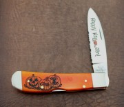 Case XX Tribal Lock Halloween Smooth Persimmon Orange Bone
