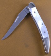 Case XX Tiny Texas Toothpick - Stainless Long Clip Blade - Mother of Pearl Handles - 11916