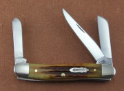 Case XX 130th Anniversary Medium Serpentine Stockman with Golden Aged Antique Bone Handles
