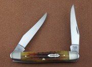 Case XX 130th Anniversary Muskrat with Golden Aged Antique Bone Handles