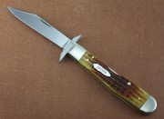 Case XX 130th Anniversary Cheetah with Golden Aged Antique Bone Handles