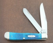 Case XX Trapper Caribbean Blue Bone - Stainless Clip and Spey Blades - 25592