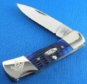 Masonic Lockback Blue Bone