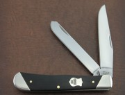 Case XX Two Blade Full Size Trapper - Ebony Wood - Slant Bolsters - Federal Shield - 32450 - 7254 SS