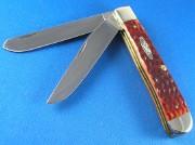 Case XX Trapper - Jig Chestnut Bone - CV Clip & Spey Blades - 7011