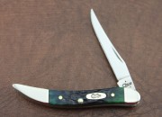 Case XX Small Texas Toothpick Hunter Green Bone