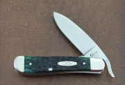 Case XX Russlock Drop Point Hunter Green Bone