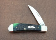 Case XX Sway Back Wharncliffe Hunter Green Bone