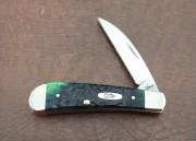 Case XX Sway Back Wharncliffe Hunter Green Bone