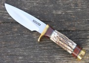 Randall Model 25 Trapper - Carbon Steel Blade - Stag Handle - Leather Sheath