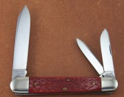 Case Classic Anglo Saxon Whittler - Banana Red Bone Handle - Stainless Spear, Pen and Spey Blades