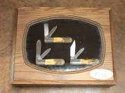 Case XX Stag Barlow Three Knife Set