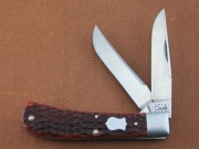 Case Bose 2000 Ltd Ed Mellinium Barehead Trapper - Jigged Chestnut Bone Handles - ATS-34 Blade Steel