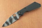 Strider SNG Gunner Grip G10 Tiger Striper CTS-XHP Blade