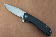 CIVIVI 801C Baklash Flipper - 9Cr13MoV Stainless Blade - Black G-10 Handle Scales
