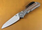 Chris Reeve Inkosi Large Insingo Blade - Titanium Handles with Natural Canvas Micarta Inlays