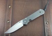 Chris Reeve Large Sebenza 21 Drop Point Titanium Handle