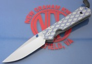 Chris Reeve Large Sebenza 21 Drop Point - Titanium Handle with Expanded Metal CGG