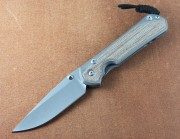 Chris Reeve Large Sebenza 31 - Natural Canvas Micarta Inlays - Drop Point Blade