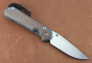 Chris Reeve Large Sebenza 31 - Natural Canvas Micarta Inlays - S35VN Drop Point Blade