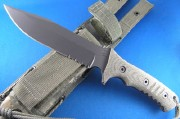 Chris Reeve Pacific Black Partially Serrated S35VN Blade - Black Canvas Micarta Handle Scales - PAC-1001