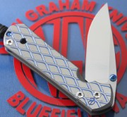 Chris Reeve Small Sebenza 21 Drop Point with Expanded Metal CGG Titanium Handle