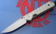 Chris Reeve Small Sebenza 21 Drop Point with Fastened CGG Titanium Handle