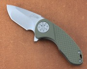 F3 Compact - Titanium Liners - G-10 Overlays - CTS-HXP Compound Grind - Linerlock