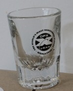 DPX Shot Glass Circle Logo
