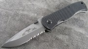 Emerson CQC7A SFS Stonewashed Partially Serrated Spearpoint Blade no Wave