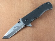 Emerson CQC-7 Flipper - Stonewashed S35VN Partially Serrated Blade