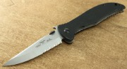Emerson Gentleman Jim SFS Stonewashed Partially Serrated Blade