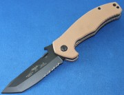 Emerson Mini Desert Roadhouse BTS Black Partially Serrated Blade
