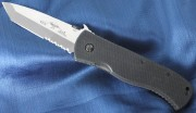Emerson Super CQC7BW SFS Stonewashed Partially Serrated Tanto Blade w/Wave