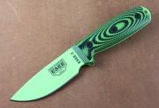 ESEE 3PMVG-007 - 1095 Blade - Venom Green - Black/Neon Green 3D G-10 Handle